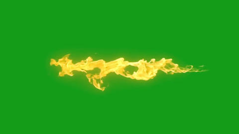 Fire stream motion graphics with green screen background Videos animados