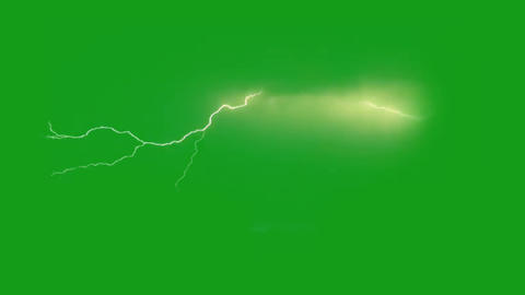 Lighting bolt motion graphics with green screen background Animation