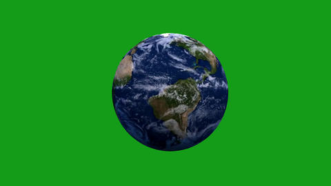 Rotating earth motion graphics with green screen background Animation
