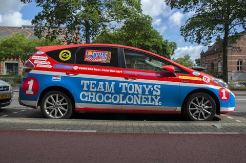 Tony's Chocolonely Company Car At Amsterdam The Netherlands 20-6-2020 Fotografía