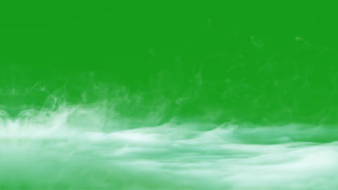 Smoke on ground with green screen background CG動画