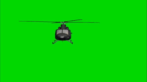 Flying helicopter motion graphics with green screen background Videos animados