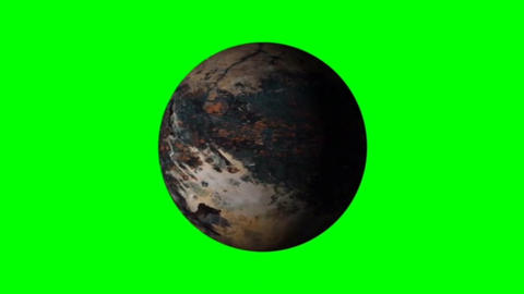 Rotating planet motion graphics with green screen background Animation