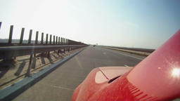 Driving across Romania, Constanta to Bucharest on highway, time lapse part 2 Footage