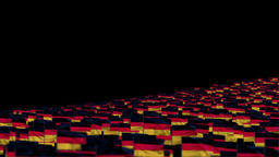 Germany Flags and Camera Fly Over, DOF Animation