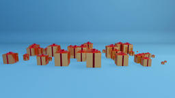 Gift Boxes, Holiday Background Animation