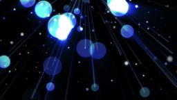 Glowing blue spheres holiday background Animation