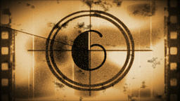 Grunge sepia toned countdown from 10 Animation