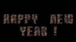 Happy New Year animated lights Animation