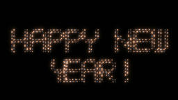 Happy New Year, animated lights Animation