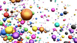 Heart of Colorful Balls exploding Animation