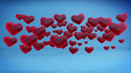 Hearts Holiday Background, loop, Alpha Animation
