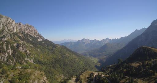 Aerial, Idyllic Mountainous Panorama, Montenegro - Native Material Footage