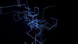 High tech grid growth Animation