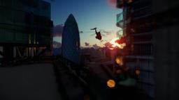 London beautiful sunrise over Swiss Reinsurance Headquarters, The Gherkin Animation