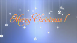 Merry Christmas title with floating Paper Flakes, Luma Matte Animation
