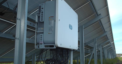 Control panel at the rear side of a solar panel, modern technology, 4k Live Action