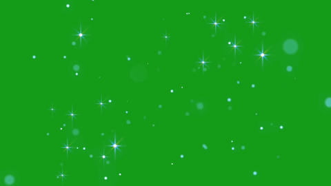 Magic stars motion graphics with green screen background Animation