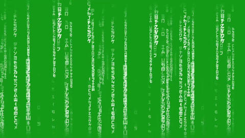 Matrix code motion graphics with green screen background Animation