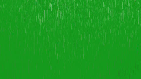 Rainfall motion graphics with green screen background CG動画
