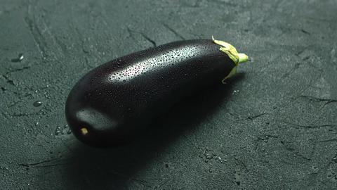 Wet Single Eggplant Live Action