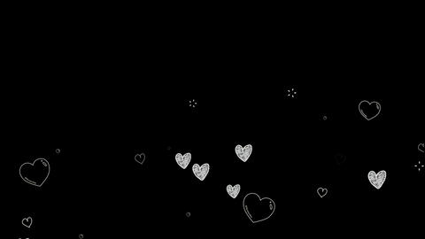 White hearts motion graphics with night background Animation