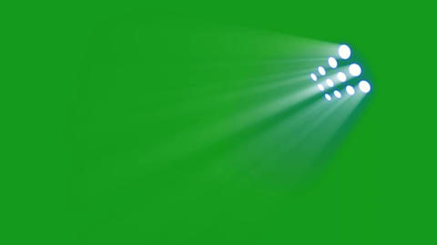 Stage lights motion graphics with green screen background Animation