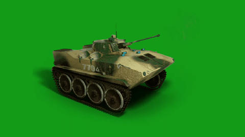 War tank motion graphics with green screen background Videos animados