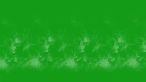 White smoke motion graphics with green screen background CG動画