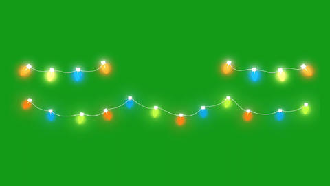 Decorative lights motion graphics with green screen background Animation