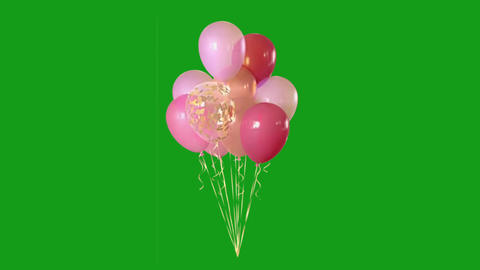 Decorative balloons motion graphics with green screen background Animation