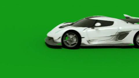 Racing car green screen motion graphics CG動画