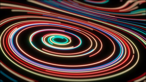 Red Glowing Lines Videos animados