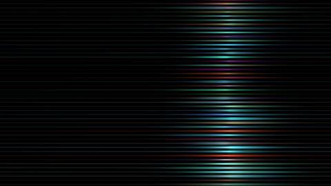 ネオン管のように光るラインのグラフィック CG動画