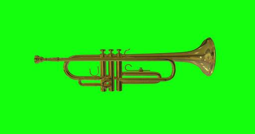 animations 3d trumpet golden instrument golden musical golden trumpet jazz instrument jazz musical Animation