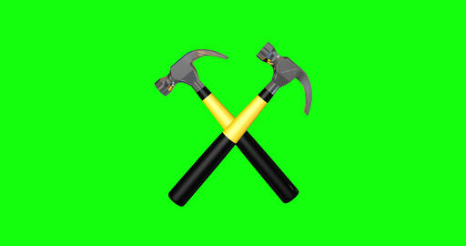 animations 3d hammers criss crossed criss symbol criss hammers tool labor tool symbol tool hammers Animation
