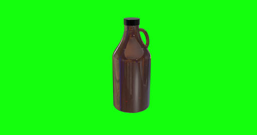 8 animations 3d growler beer ceramic bottle ceramic growler glass beer glass bottle glass growler Animation