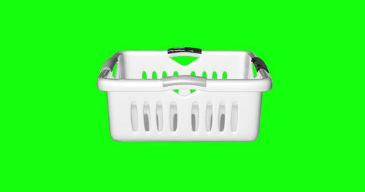 8 animations 3d basket white laundry white plastic white basket clothes laundry clothes plastic Videos animados