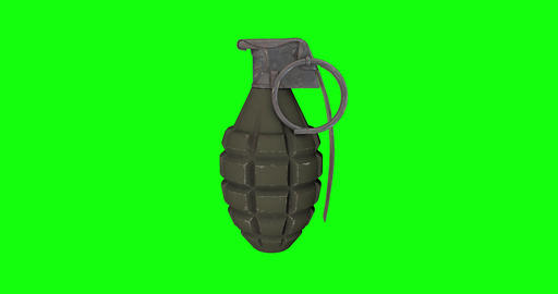 8 animations 3d grenade military hand military pineapple military grenade gun hand gun grenade green Animation