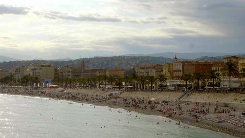 The city of Nice at the Cote D Azur - CITY OF NICE, FRANCE - JULY 10, 2020 Live Action