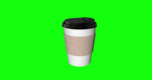 8 animations hot coffee paper glass paper cup paper coffee drink disposable glass disposable cup Animation