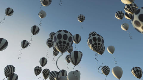 Fun party and celebration. Bunch of colorful balloons background in nature Animation
