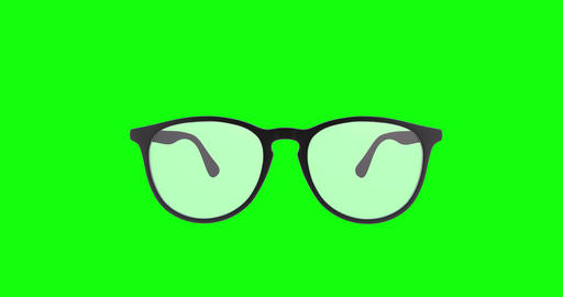 4 animations different glasses green screen vision green screen prescription green screen glasses Animation