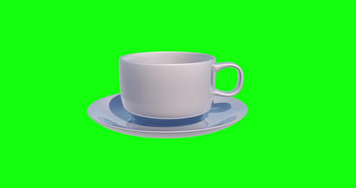 8 animations 3d cup white coffee white breakfast white cup green screen coffee green screen GIF