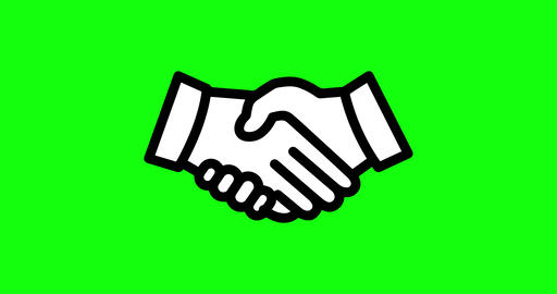 4 animations hands green screen shake green screen greeting icon green screen hands business shake Animation