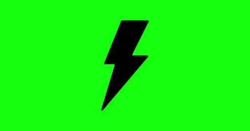 4 animations bolt green screen electricity ray green screen icon green screen bolt lightning Animation
