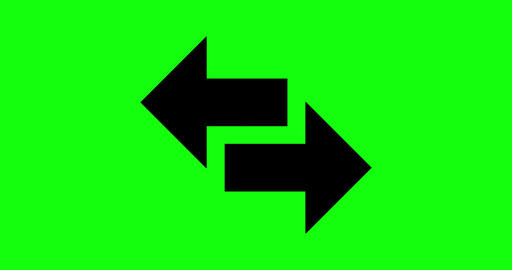 8 animations arrows left signal right icon double two sided green screen arrows right signal left Animation