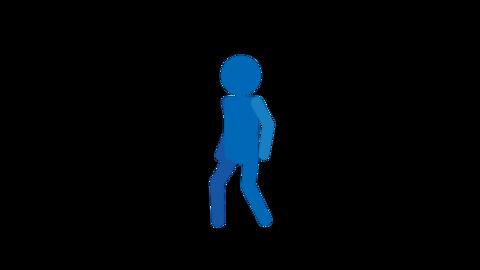 歩く ピクトグラム人物 ループアニメ CG動画