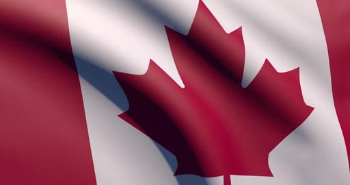 Realistic 3d hd flag waving Canada waving canadian waving flag zoom Canada zoom canadian zoom flag Animation