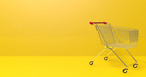 Metal cart supermarket trolley supermarket shopping supermarket cart empty trolley empty shopping Videos animados